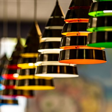 colorful hanging lights