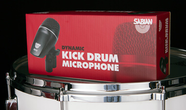 Sabian Kick Drum Microphone in packaging