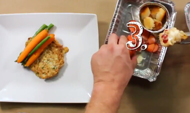 hands of person preparing food on plate
