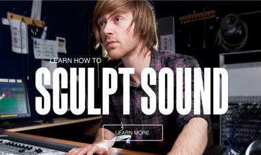 screenshot of man editing sound on Big Noise website